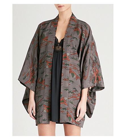 KISSHOTEN Autumn Villages silk kimono robe (Autumn+villages