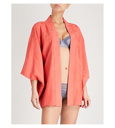 KISSHOTEN Flower in the Wind silk-jacquard kimono robe (Flower+in+the+wind