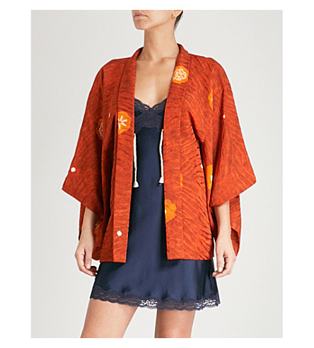 KISSHOTEN Autumn Colours silk kimono robe (Autumn+colours