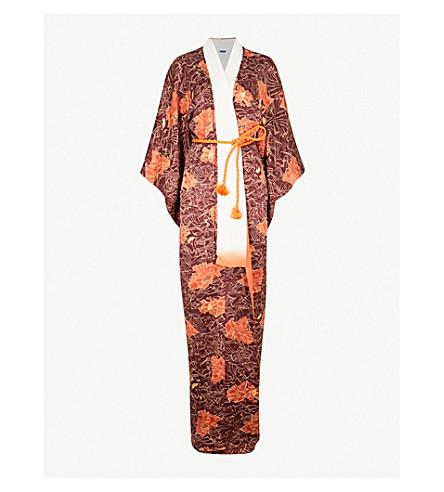 KISSHOTEN Hidden Fans silk-jacquard kimono robe (The+hidden+fans