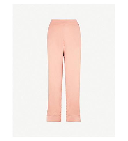 ASCENO Blush silk-satin pyjama bottoms (Blush+bold+stripe