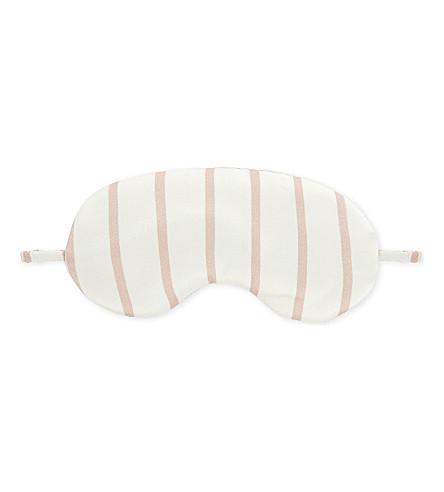 ASCENO Silk geometric eye mask (1288+blush+stripe