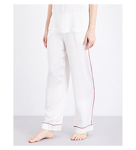 ASCENO Rio Edged silk-satin pyjama bottoms (1304+rio+edged