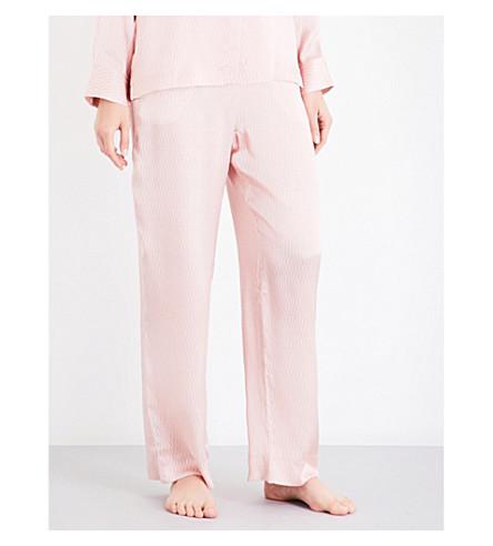 ASCENO Matchstick silk-satin pyjama trousers (Rose+matchstick