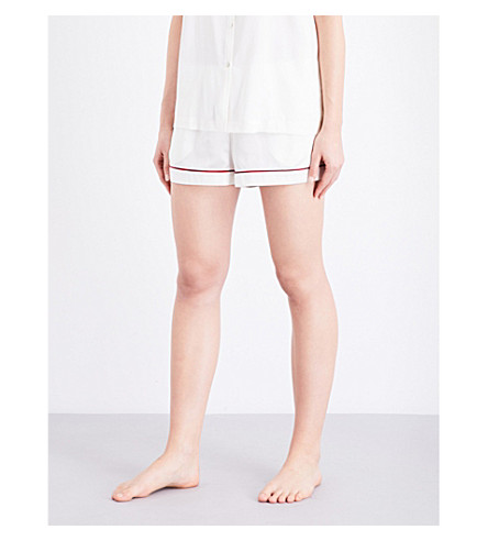 ASCENO Rio Edged silk-satin pyjama shorts (1306+rio+edged