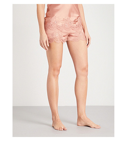 ID SARRIERI East of Eden silk-blend shorts (Cappuccino