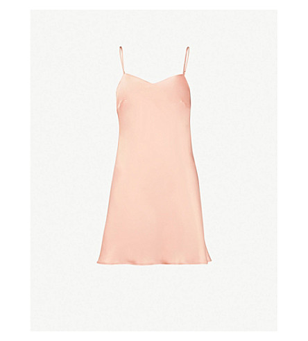 MARJOLAINE Soie Unie satin silk-satin slip dress (Lotus