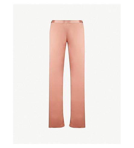MARJOLAINE Soie Unie silk-satin pyjama bottoms (Lotus