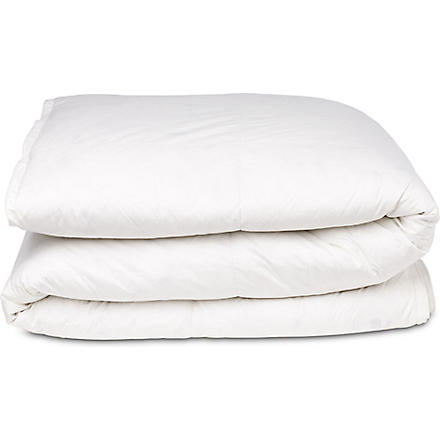 SELFRIDGES New white duck feather and down four seasons duvet 4.5 tog / 9 tog (White