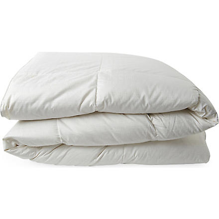 SELFRIDGES New white Hungarian goose down duvet 13.5 tog