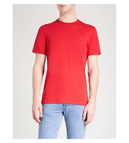 MICHAEL KORS 徽标-绣花棉衫 t恤衫 (深红色