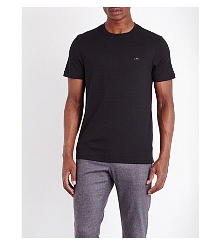 MICHAEL KORS Crewneck cotton-jersey t-shirt (Black