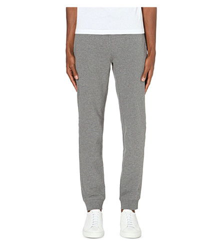 MICHAEL KORS Ribbed jersey jogging bottoms (Ash+melange
