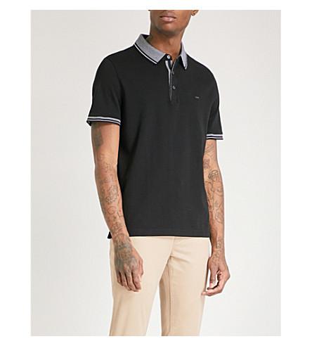 MICHAEL KORS Greenwich logo-embroidered cotton-jersey polo shirt (Black