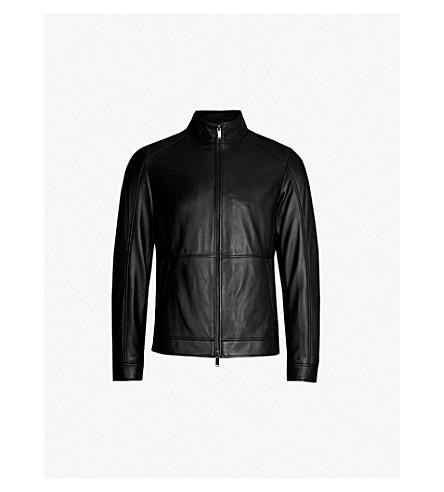 MICHAEL KORS Stand-collar leather jacket (Black