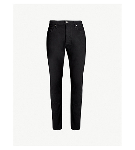 MICHAEL KORS Slim-fit tapered jeans (Black