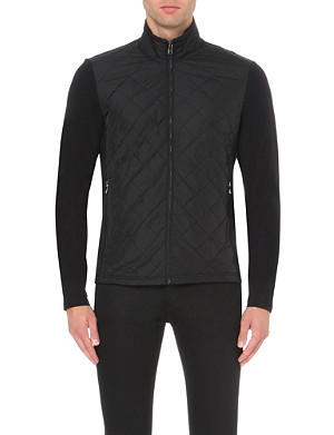 MICHAEL KORS Quilted cotton-jersey jacket