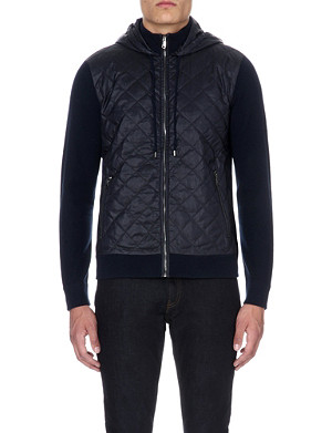 MICHAEL KORS Quilted and knitted hoody