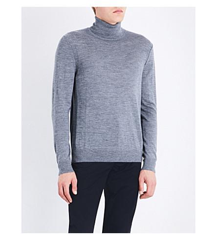 MICHAEL KORS Turtleneck wool jumper (Ash+melange