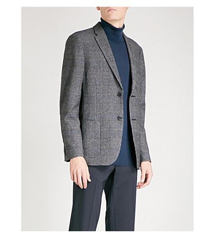 MICHAEL KORS Glen Check-patterned regular-fit cotton-blend jacket (Charcoal