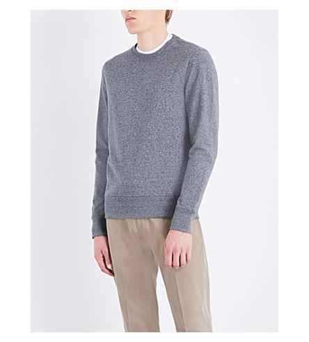 MICHAEL KORS Marl-effect stretch-cotton sweatshirt (Black+jaspe