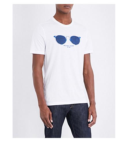 MICHAEL KORS Hypercity Window cotton-jersey T-shirt (White