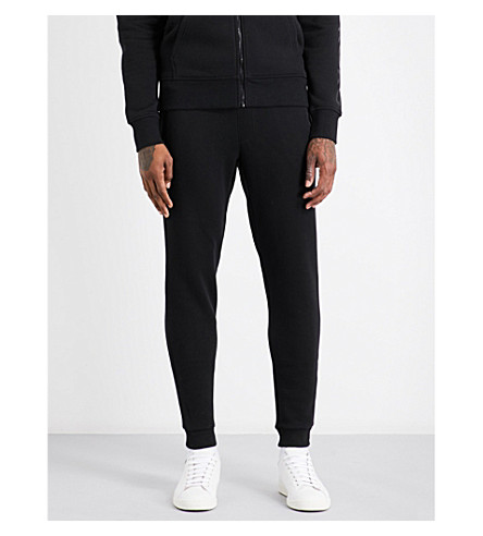 MICHAEL KORS Logo-embroidered cotton-jersey jogging bottoms (Black