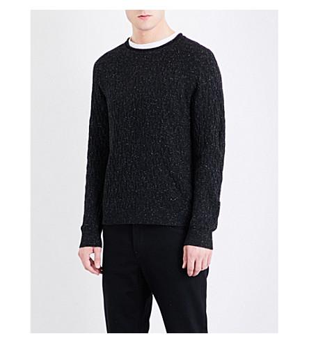 MICHAEL KORS Donnegal knitted jumper (Black