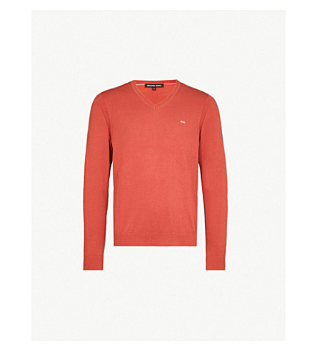 MICHAEL KORS Logo-embroidered cotton jumper (Sienna