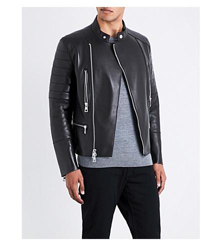 MICHAEL KORS Moto leather jacket (Black