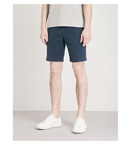 MICHAEL KORS Straight-fit stretch-cotton chino shorts (Midnight
