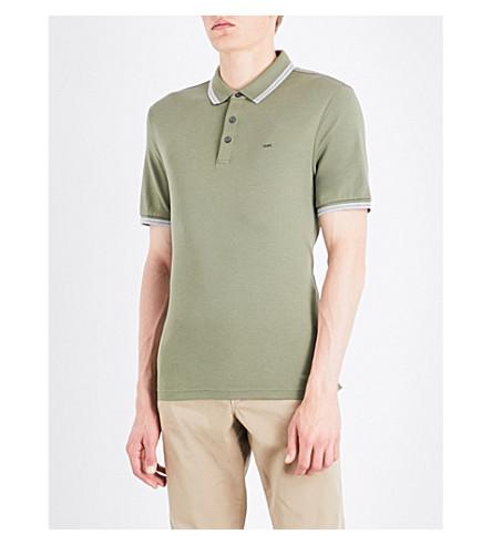 MICHAEL KORS Cotton-jersey polo shirt (Ivy+green