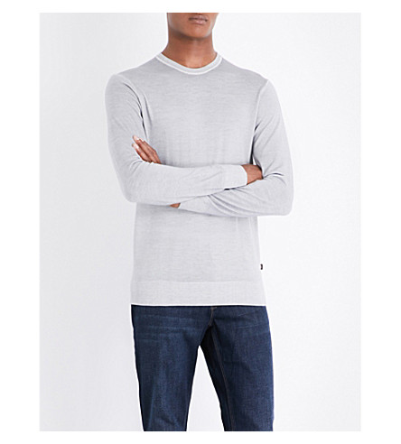MICHAEL KORS Crewneck wool jumper (Grey