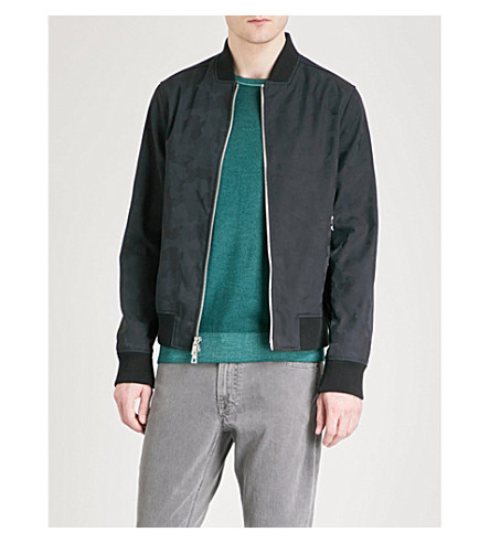 MICHAEL KORS Camouflage shell bomber jacket (Midnight