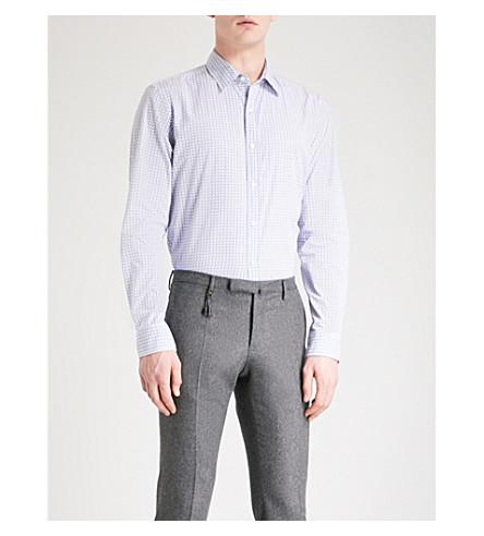 MICHAEL KORS Diablo-print slim-fit cotton shirt (Nautical+blue