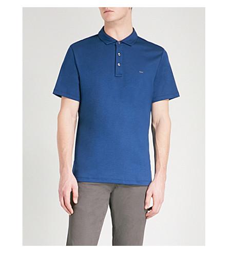 MICHAEL KORS Sleek cotton-jersey polo shirt (Admiral+blue