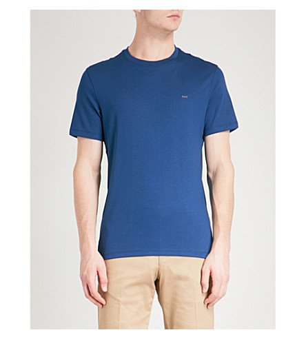 MICHAEL KORS Sleek cotton-jersey T-shirt (Admiral+blue