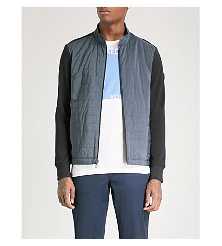 MICHAEL KORS Contrast-front cotton jacket (Black