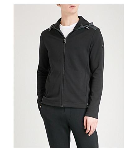 MICHAEL KORS Striped-trim cotton jacket (Black