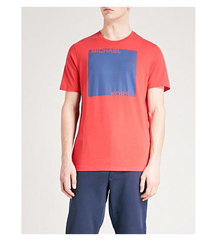 MICHAEL KORS Logo-print cotton-jersey T-shirt (Flame+red