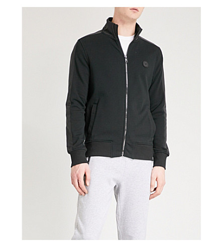 MICHAEL KORS Funnel collar cotton-blend jacket (Black