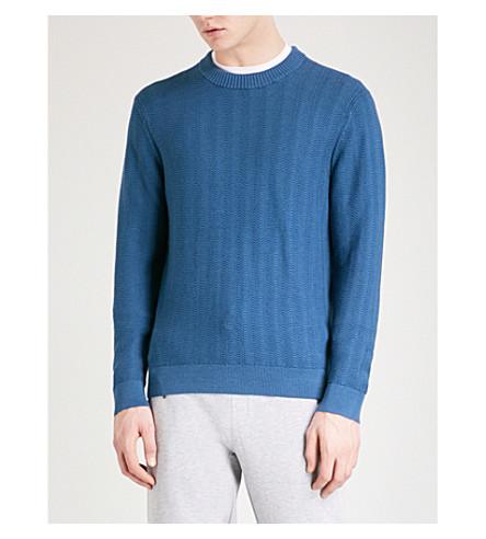 MICHAEL KORS Textured knitted jumper (Midnight