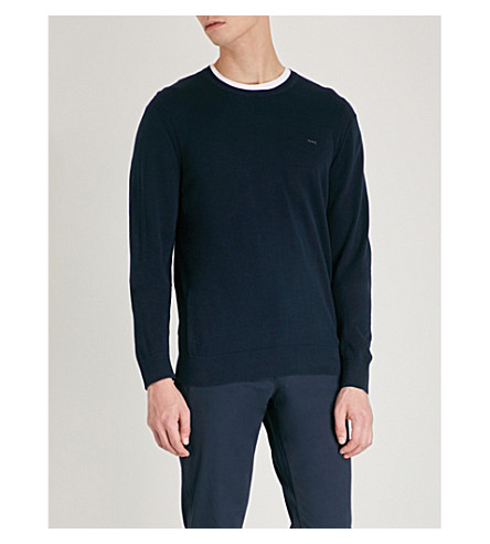 MICHAEL KORS Logo-embroidered knitted jumper (Midnight