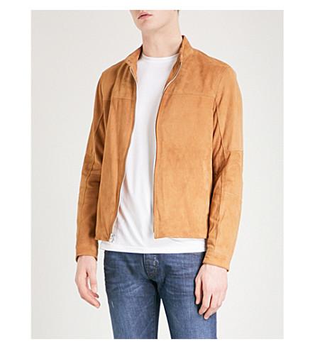 MICHAEL KORS Perforated suede jacket (Peanut