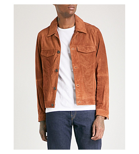 MICHAEL KORS Suede trucker jacket (Luggage