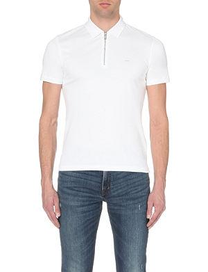 MICHAEL KORS Zipped cotton-jersey polo shirt