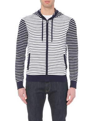 MICHAEL KORS Stripe-print cotton hoody