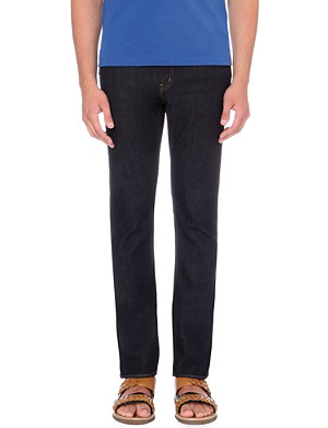 MICHAEL KORS Slim-fit tapered mid-rise jeans