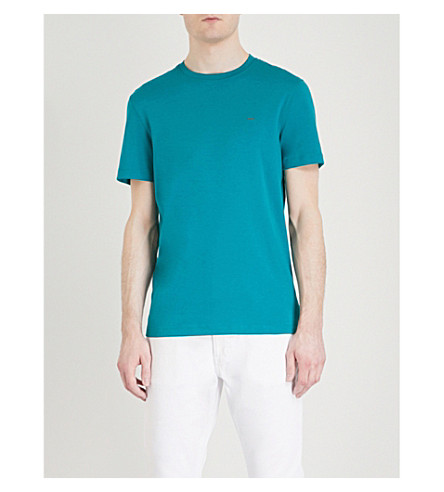 MICHAEL KORS Sleek Liquid cotton-jersey T-shirt (Deep+green