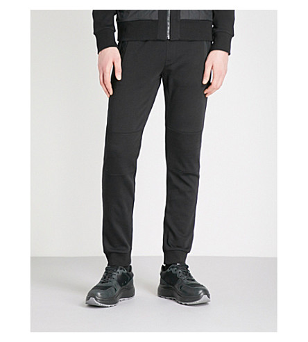 MICHAEL KORS Relaxed-fit cotton-jersey jogging bottoms (Black